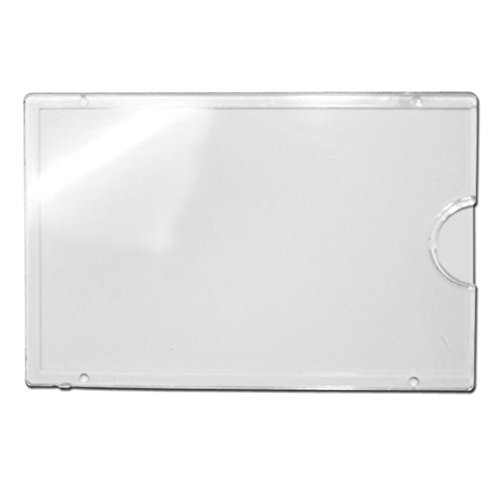 JC Handle White Wall or Door Name Plate Holder Large 95x62mm Acrylic Pack of 5 - Matt 5 Drawer Chest