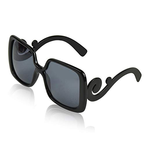 Sunglasses for Women Sunglasses Big Smoke Gradient Lens Swirl Temple Black