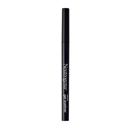 Neutrogena Intense Gel Eyeliner with Antioxidant Vitamin E, Smudge- & Water-Resistant Eyeliner Makeup for Precision Application, Jet Black, 0.004 oz