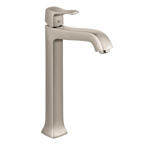 Best Price! Hansgrohe 31078821 Metris C Tall Single-Hole Lavatory Faucet, Brushed Nickel