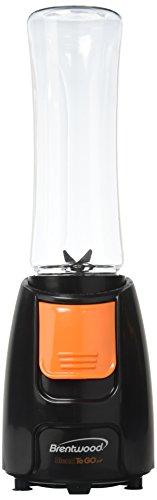 Brentwood Appliances JB-197 Blend-To-Go Blender, Black Body with Orange Button