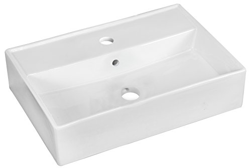 American Imaginations AI-888-1328 19.75-in. W x 13.75-in. D Above Counter Rectangle Vessel In White Color For Single Hole Faucet from American Imaginations
