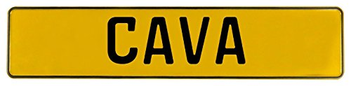 Vintage Parts 615860 Wall Art (Yellow Stamped Aluminum Street Sign Mancave Cava)
