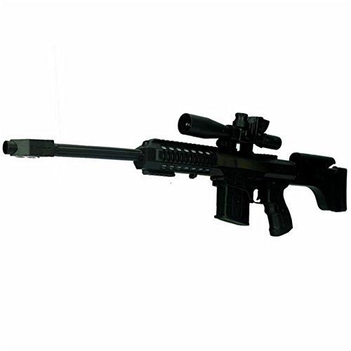Kidlove Long Black Submachine Gun Toy Music Light-emitting Children's Military Model (Military Toy Guns)
