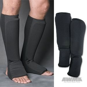 ProForce Combination Cloth Shin / Instep Guards - Black - Child Medium