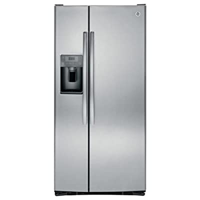 """GE GSS23HSHSS 33"""" Side-By-Side Refrigerator with 22.5 cu. ft. Capacity in Stainless Steel"""