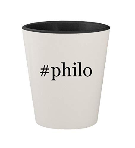 Byblos Glasses - #philo - Ceramic Hashtag White Outer & Black Inner 1.5oz Shot Glass