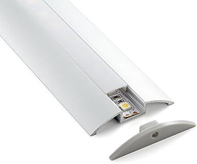 4 metros de barra de aluminio LP1040, dispuestos en 2 barras de 2 m cada una, luz LED con cobertura opaca y ganchos de montaje incluidos: Amazon.es: Iluminación