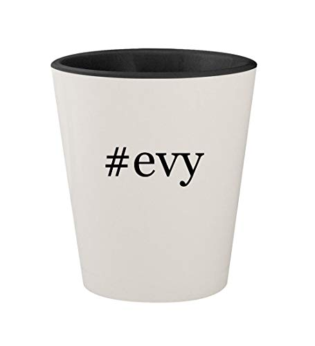 #evy - Ceramic Hashtag White Outer & Black Inner 1.5oz Shot Glass (Evy Queen)