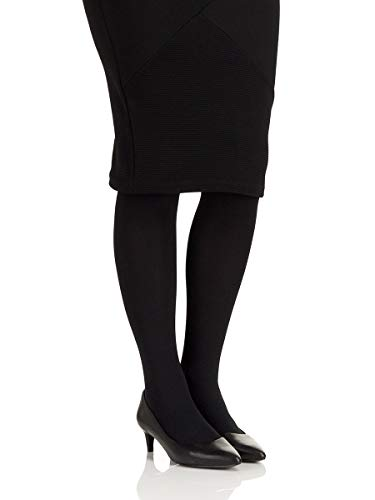 Berkshire Women's Mode 60 Denier Microfiber Opaque Control Top Tights, Black, 3-4
