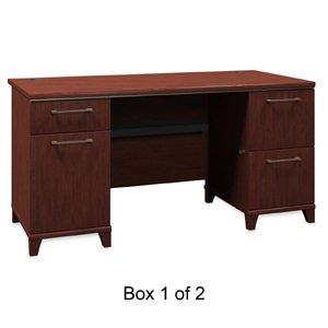 BSH2960CSA103 - Bush 60amp;quot; W Double Ped Desk B/D (Double Ped Table)