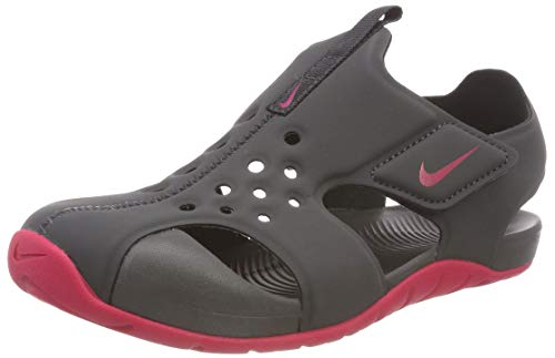 NIKE Toddler Girl's Sunray Protect 2 Sandal, Anthracite/Rush Pink, 1Y