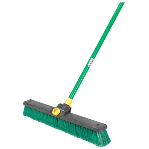 Quickie Bulldozer 24 Inch Multi Surface Push Broom With