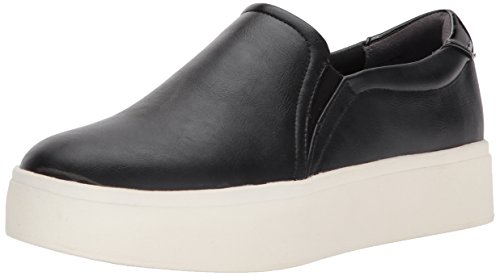 Dr. Scholl's Shoes Women's Kinney Fashion Sneaker, Black/Metallic, 7 M US