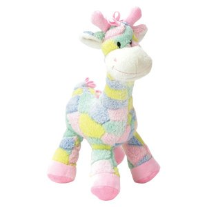 A Baby Giraffe Rattle - Pastel 13 Inch Plush Giraffe Rattle for Baby - Crib Toy - Infant - Baby Shower - Boy or Girl