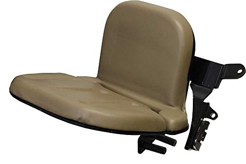 Buddy Seat Brown Skin AMSS8496 for John Deere Tractors 5085M 5100E 5085E + (Buddy Seat For John Deere Tractor)