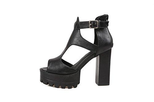 36 Noir AdeeSu Plateforme 5 Femme SLC04119 Noir qCfw6T