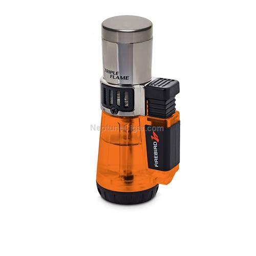 Firebird by Colibri Afterburner Triple Torch Cigar and Cigarette Lighter Warranty Orange ()