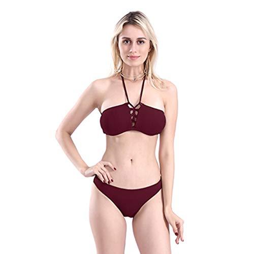 Fasciatura Imbottito Solido Wear Push Red Bather Beach Set Triangolo Lmshm Reggiseno Da Wine Bagno Costume Up Donna Bikini Costumi wPCAxBqO