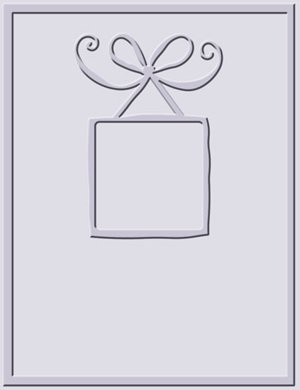 Provo Craft Cuttlebug A2 Embossing Folder-Bow Frame (Provo Craft Frames)