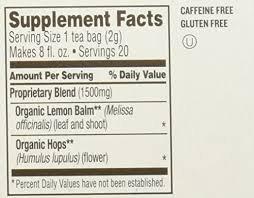 Celestial Organics Relaxation Herbal Supplement Tea (20 teabags)