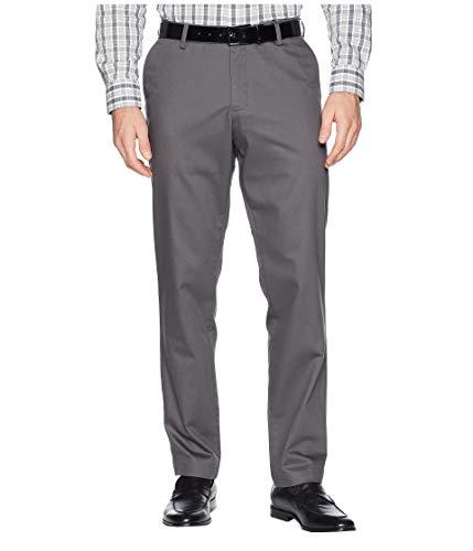 Dockers Men's Athletic Fit Signature Khaki Lux Cotton Stretch Pants, Magnet, 34W x 32L