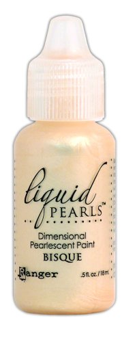 Ranger LPL-28062 Liquid Pearls Glue Paint, Bisque, - Pearl Bisque
