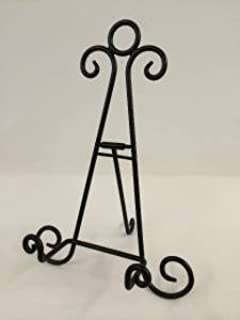 Black Iron Easel 10 inch Holder Display Artwork Picture Canvas Menu Book Plate Stand AA- & Black Iron Easel 6 inch Holder Display Artwork Picture Canvas Menu ...