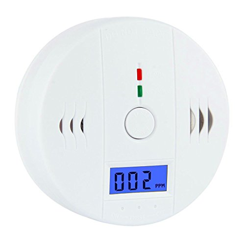 CO Detector,Wewalab Carbon Monoxide Alarm, Carbon Monoxide Gas Detection,LCD Portable Security Gas CO Monitor,Battery Powered (Battery not included) (A)