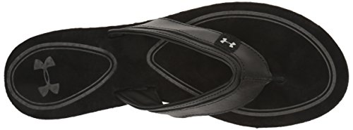 Under Armour Womens TropicFlo Leather Thong Black/Gray Matter oiWnCe5QM