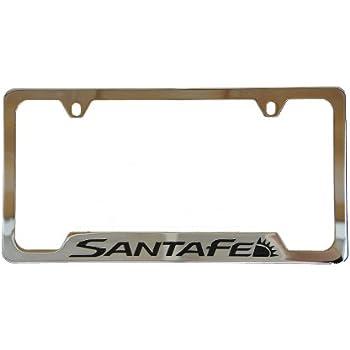 Amazon Com Hyundai Santa Fe Chrome License Plate Frame