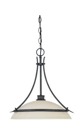 Oil Rubbed Bronze Single Light Pendant From The Montego ()