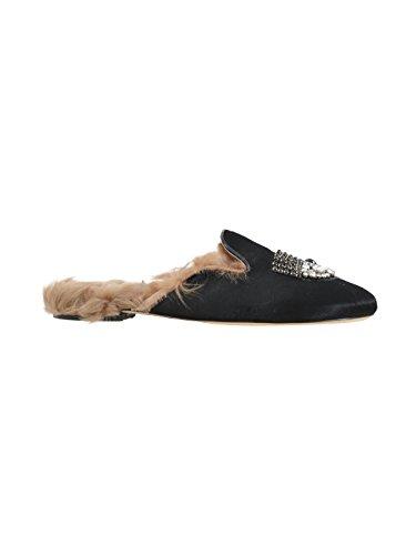 Chiara Ferragni Damen CF1629 Schwarz Leder Sandalen