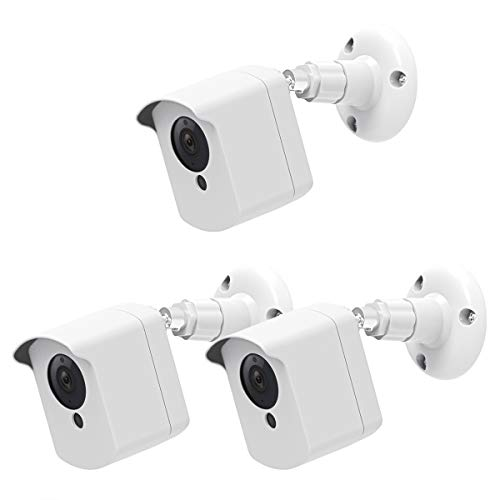 Electronics : Wyze Camera Wall Mount Bracket, Mrount Protective Cover with Security Wall Mount for Wyze Cam V2 V1 and Ismart Spot Camera Indoor Outdoor Use, White (3 Pack)