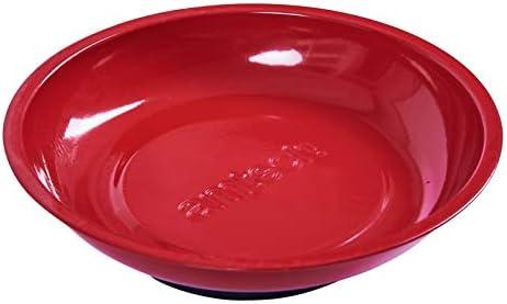 Am-Tech S5305 - Plato magnético (diámetro 15,2 cm), color rojo
