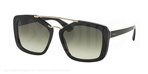 Prada CINEMA' PR24RS Sunglasses 1AB0A7-56 - Black Frame, Grey Gradient PR24RS-1AB0A7-56 by Prada