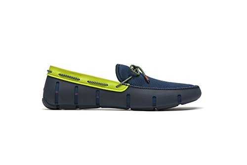 SWIMS Lace Loafer in Navy/Green Sparkle, Size 11 by SWIMS