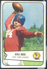 1954 Bowman Regular (Football) card#7 Kyle Rote of the New York Giants Grade very - 1954 Football Cards