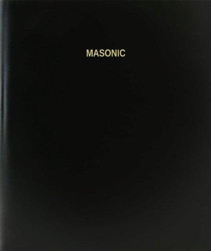 BookFactory® Masonic Log Book / Journal / Logbook - 120 Page, 8.5''x11'', Black Hardbound (XLog-120-7CS-A-L-Black(Masonic Log Book)) by BookFactory