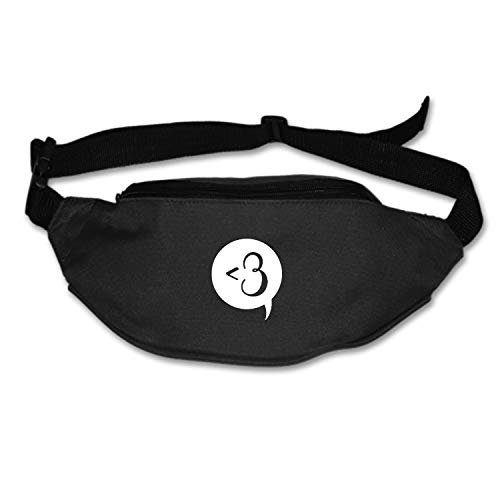 (Myfa Love Sign Chat Bubble Travel Fanny Bag Waist Pack Super Lightweight for Travel Cashier's Box, Tool Kit )