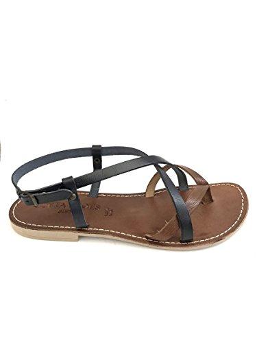 ZETA SHOES - Sandalias de vestir de goma para mujer negro