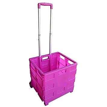 Carrito de transporte MP Essentials. Carrito de transporte, capacidad de 40 kg, ideal para las compras y campamento rosa: Amazon.es: Hogar