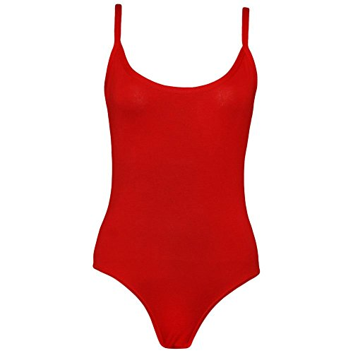 Janisramone - Camiseta sin mangas - Básico - Sin mangas - para mujer Rosso