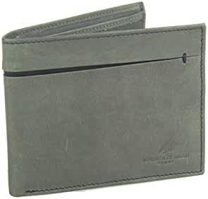 Wallet man ARMATA DI MARE grey in leather with flap and coin purse A5734