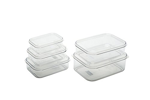 Micro Clear Food Storage Containers set of 5 (XS,S,M,L,XL)