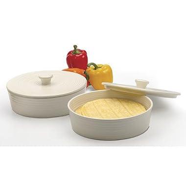RSVP Stoneware Tortilla Warmer White