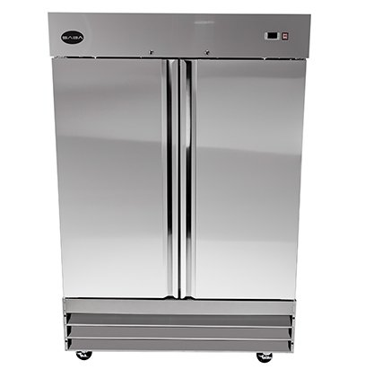 "Price comparison product image SABA Air CFD-2RR Heavy Duty 54"" Two Section Solid Door Stainless Steel Reach in Commercial Refrigerator--Capacity: 46.5 Cu. Ft."