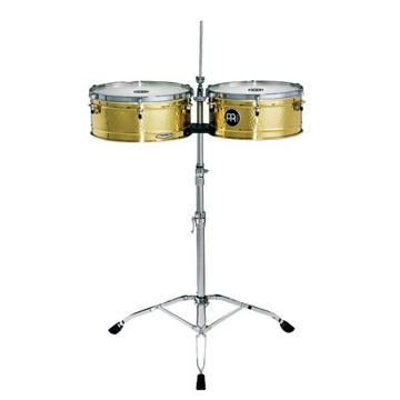 Meinl Percussion LC1BRASS Artist Series Luis Conte Signature Solid Brass Timbales, 14-Inch and 15-Inch