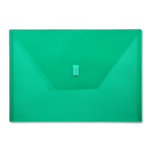 Wholesale CASE of 25 - Lion Hook and Loop Closure Poly Envelopes-Poly Envelope,Hook and Loop Closure,13''x9-3/8'',./Green