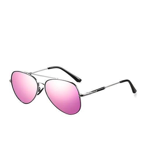 Conducción Gafas Sunglasses C2 MatteBlack viajan Pink Sol Diseñador TL anteojos Moda C4 Black Unisex de Gafas Hombres Espejo de Silver Sol polarizadas de para pd4aqxPd